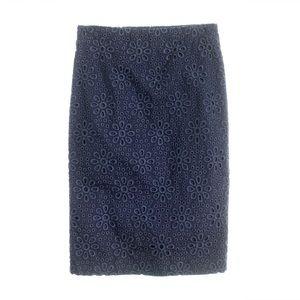 J.Crew Navy Pinwheel Skirt Size 8